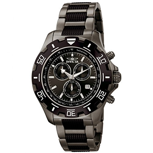 Invicta Men's 6412 Python Collection Stainless Steel Watch with Link Bracelet (Watch Single Chrono)