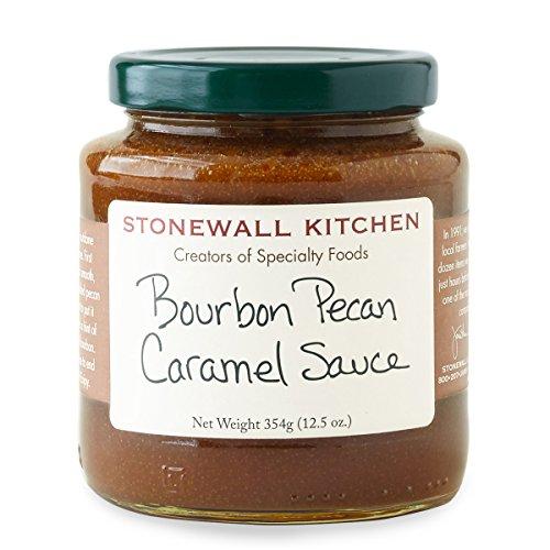 Stonewall Kitchen Gluten-free, All Natural Bourbon Pecan Caramel Sauce, 12.5 Ounces