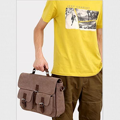 [QIFENGDIANZI]ショルダーバッグ メンズ おしゃれ 欧米風 斜めかけバッグ 高品質 多機能 収納力 実用性 カジュアル 通学 通勤 旅行 ハンドバッグ カーキ/コーヒー/グリーン