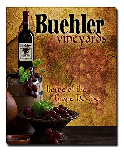 Buehler's Vineyards Grapes Wine Gallery Wrapped Canvas (Buehler Vineyards Wines)