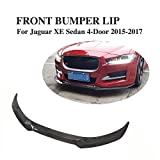 JCSPORTLINE Carbon Fiber Front Bumper Chin Spoiler for Jaguar XE 2015-2017