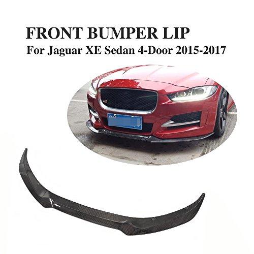 JCSPORTLINE Carbon Fiber Front Bumper Chin Spoiler for Jaguar XE 2015-2017 by jcsportline
