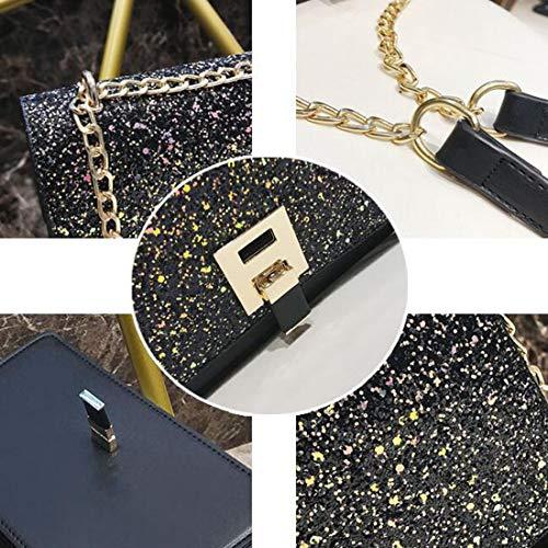 color Baachang Donna Spalla Diagonale Da A Borsa Gold Per Party Black fqr8fx