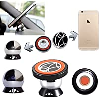 Qiachip UF-X Magnetic 360 Degrees Tablet Mount Car Mount Kit Holder Magnet Mount Car Dashboard Stand Phone Holder for iPhone 6 6plus Samsung Galaxy S5 S4 GPS (Universal)