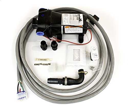 Thetford Marine EASYFIT/NANO/COMPASS 12V HEADS INSTALL KIT With RAW WATER PUMP, Wire Harness and ECO Switch, 38679