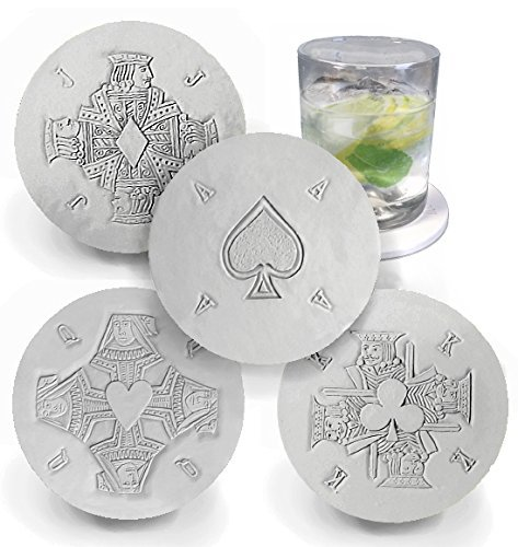 Drink Coasters by McCarter Coasters, Playing Cards, Absorbent, Light Beige 4.25 inch (4pc) ()