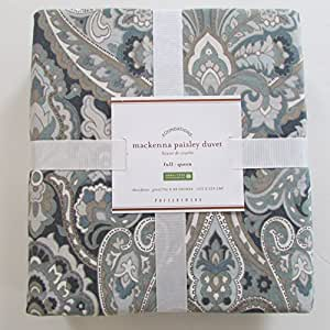 Amazon Com Pottery Barn Mackenna Paisley Duvet Cover Full