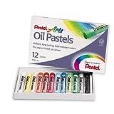 Pentel Arts Oil Pastels, Set of 12 Pastels