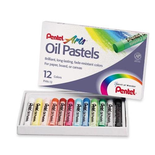 Pentel Arts Oil Pastels, 12 Color Set (PHN-12)
