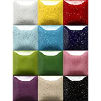 Speckled Mayco Stroke and Coat Wonderglaze for Bisque Set B 1-2oz - Set of 12 - Assorted Colors …