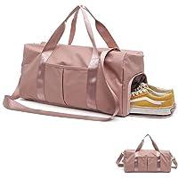 SALUDO Bolsa de Gimnasio, Duffel Bag Mochila Unisex Impermeable, Bolsa de Deporte Separada en Seco y Húmedo con Compartimento para Zapatos para Mujeres y Hombres