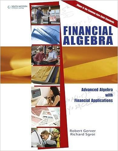 Financial Algebra: Advanced Algebra with Financial Applications ...