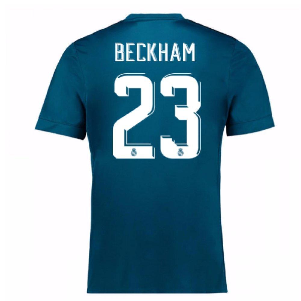 2017-18 Real Madrid Third Football Soccer T-Shirt Trikot (David Beckham 23) - Kids