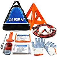 RISEN Roadside Car Emergency Auto Safety Assistance Road Travel First Aid Kit