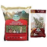 Oxbow Animal Health Western Timothy Hay, 90 oz plus Timothy Twists Bundle