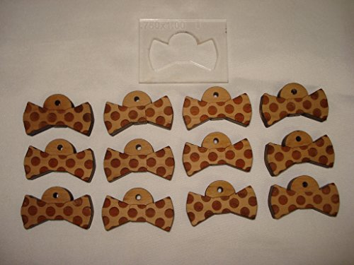 Bowtie Blanks for Laser Engraving Supplies Solid Cherry Wood with (Jig Blanks)