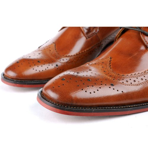 Fulinken Men's Oxford Shoes Leather Lace up shoes Brogue Wingtip Business boots Formal Dress Shoes buy cheap get authentic sale eastbay perfect cheap online with credit card cheap price enjoy cheap online FvhxFG
