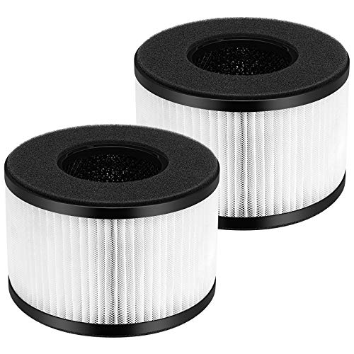 Cabiclean HEPA Filter Replacement BS-03 for PARTU Air Purifier Part U, Part X - 3-in-1 Filtration with True HEPA Filter, Activated Carbon Filter, Pack of 2