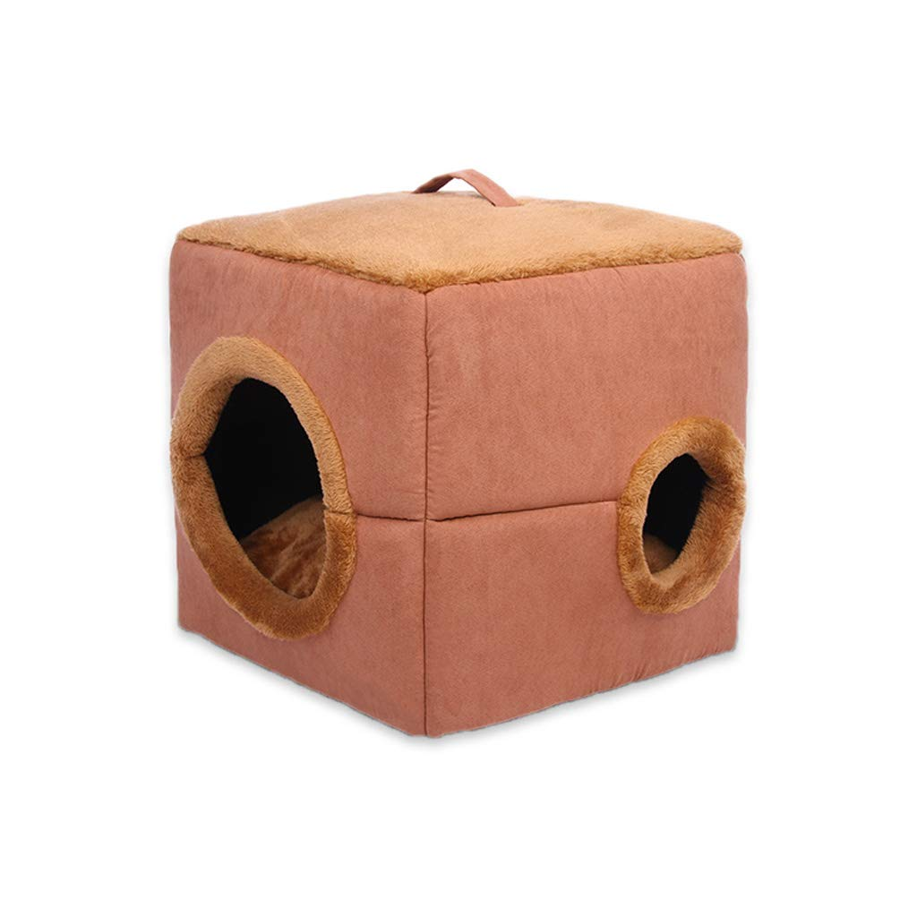 M:41 *41cm *41cm Kenkel QIIDEDIAN Dog House Plush Cat Litter Dog House Semi - uso Autumn And Winter Warm Cat Litter (Dimensione: M:41 * 41 * 41cm)