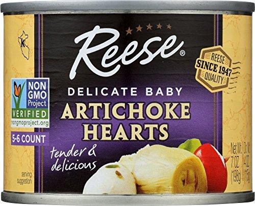 Reese Petite Artichoke Hearts, 7-Ounces (Pack of 12)