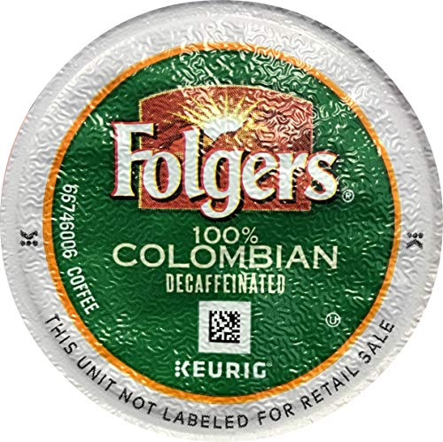 - Folgers 100 Percent Colombian Decaffeinated Coffee Single Serve Pods for Keurig K-Cup Brewers, 96 Count