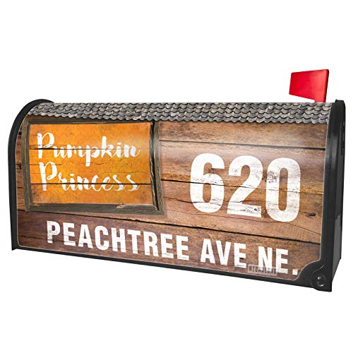 NEONBLOND Custom Mailbox Cover Pumpkin Princess Halloween Orange Wallpaper]()