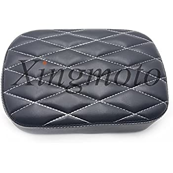 Pillion Pad Suction Seat 6 Cup Passenger Cushion For Compatible with Harley Dyna Sportster 883 NBX