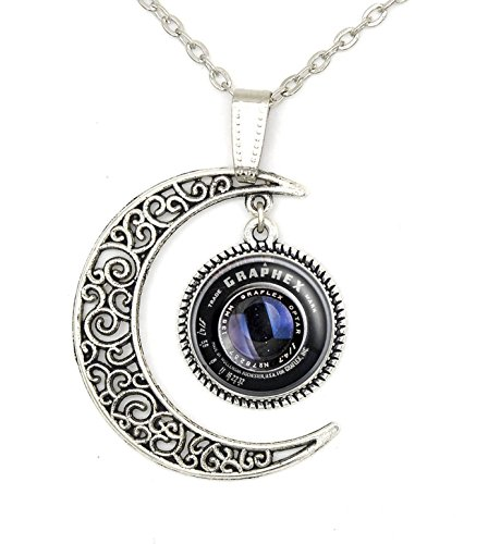 Lan Jin Art Custom Photog Camera Lens Necklace Pendant Jewelry Lover Personalized Charm Gift ()