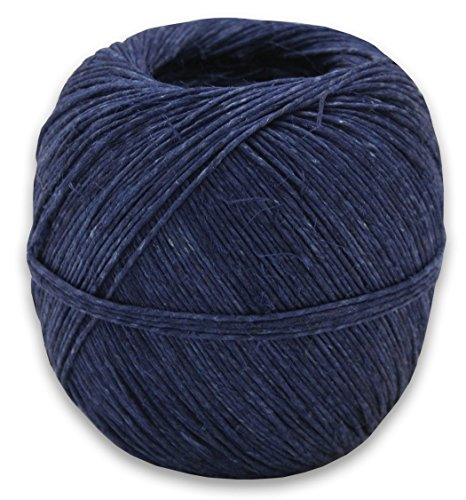 400 Feet of 100% Hemp Hungarian Twine in Your Choice of Color (Navy Blue) -