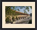 Framed Print of Iran, Central Iran, Esfahan, Si-o-Seh Bridge, late afternoon