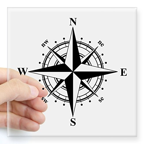 CafePress Compass Sticker Square Bumper