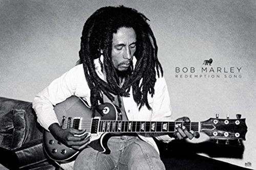 Pyramid America Bob Marley Redemption Song Acoustic Guitar Jamaican Reggae Singer Songwriter Musician Poster 36x24 inch