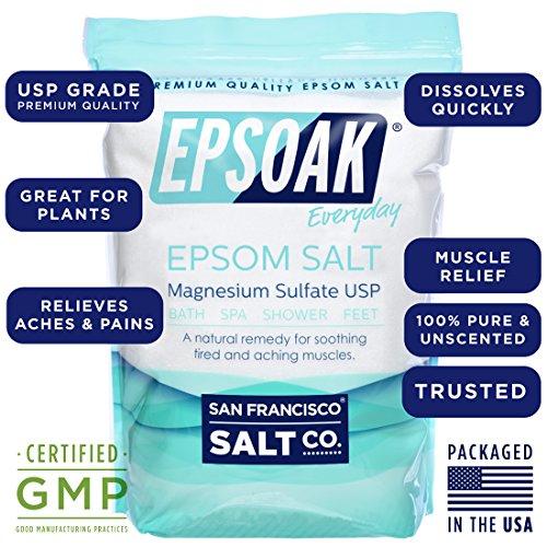 Epsoak USP Epsom Salt 39.5 lbs Magnesium Sulfate (Qty 2, 19.75 lb. Bulk Bags) by Epsoak (Image #3)