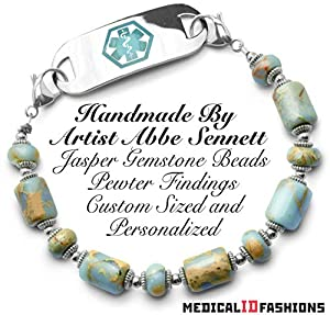 Medical ID Bracelet Set Safari Gems 2036