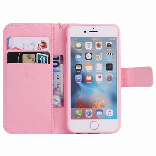 """Custodia Apple iPhone 6s (4.7"""") Cover Case, Ougger Portafoglio PU Pelle Magnetico Stand Morbido Silicone Flip Bumper Protettivo Gomma Shell Borsa Custodie con Slot per Schede, Gatto Carino"""