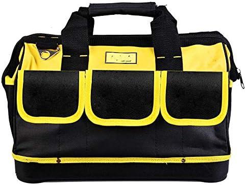 耐久性工具バッグ プロフェッショナル電動工具のショルダーバッグマルチポケット多機能オックスフォード布防水ツールバッグオーガナイザーパワーツール 工具収納&仕分け管理&運搬用 (色 : Black, Size : One size)