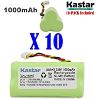Kastar 10-PACK AAA 3.6V 1000mAh Ni-MH Rechargeable Battery Replacement for Motorola Symbol 82-67705-01 Symbol LS-4278 LS4278-M BTRY-LS42RAAOE-01 DS-6878 Cordless Bluetooth Laser Barcode Scanner