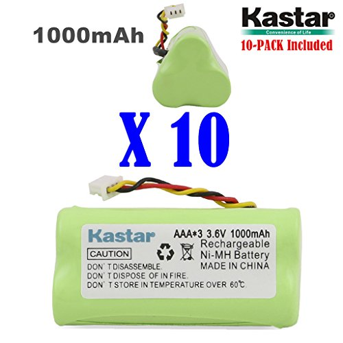 Kastar 10-PACK AAA 3.6V 1000mAh Ni-MH Rechargeable Battery Replacement for Zebra/Motorola Symbol 82-67705-01 Symbol LS-4278 LS4278-M BTRY-LS42RAAOE-01 DS-6878 Cordless Bluetooth Laser Barcode Scanner
