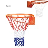 MABALAR Glow in The Dark Basketball Net – Outdoor Net and Basketball Hoop Accessories, Standard Regulation Size for Outside Basketball Rims, Kids Backboard and Rim