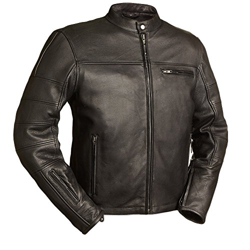 First Manufacturing Men's Manchester Motorcycle Jacket, Black, 3X