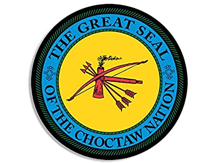 Amazoncom Round Choctaw Nation Seal Sticker Decal Logo American