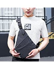 WANFULDA Compact Single Shoulder Bags for Men Waterproof Nylon Crossbody Bags Male Messenger Bag