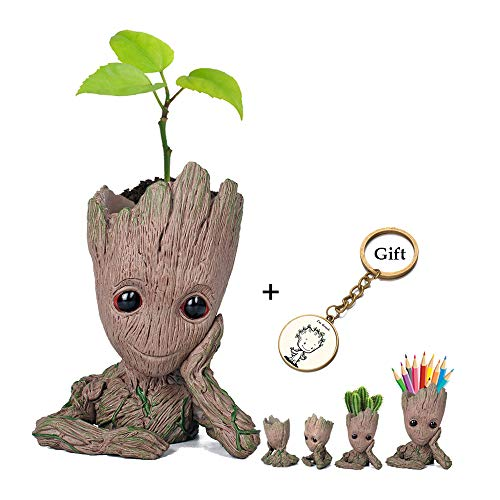 Prime Sale Day Deals Week Amazon 2018-Creative Groot Planter Pot Guardians of The Galaxy Flowerpot Baby Groot Action Figures Cute Model Toy Pen Pot Pencil Holder Best Gifts for Kids (Cute Groot) (Deals Amazon)