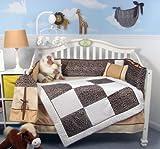 Best SoHo Designs Bed Skirts - Soho White Chenille & Giraffe Minky Baby Crib Review