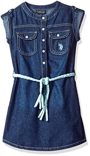 Dark Wash Belted Jeans - 5