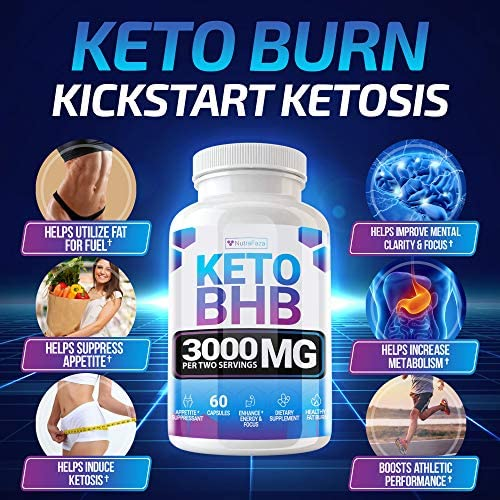 Keto Pills - (2 Pack | 120 Capsules) - 5X Potent - Advanced Keto Burn Diet Pills - Best Exogenous Ketones BHB Supplement for Women and Men - Boost Energy and Metabolism - 100% Vegan 5