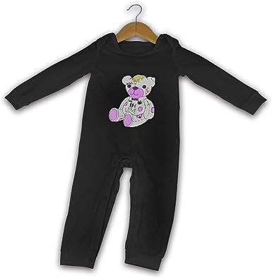 Newborn Baby Girls Bodysuit Short-Sleeve Onesie Roller Skating Ink Painting Print Outfit Winter Pajamas