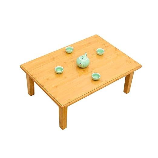 Mesa de Centro Plegable de bambú Mesa pequeña Mesa de Escritorio ...