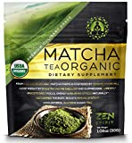 Organic Matcha Green Tea Powder, Japanese Premium Culinary Grade, Unsweetened & Sugar Free