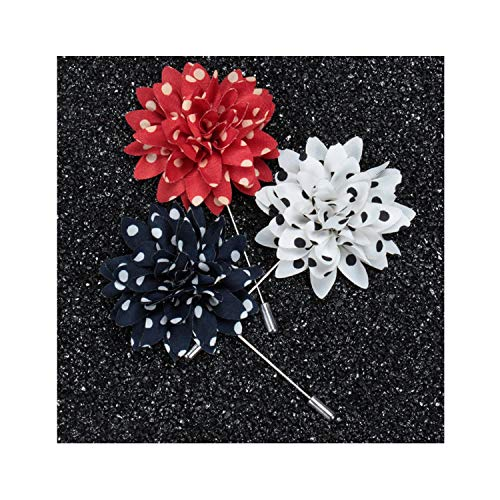 Handmade Flower Decorative Brooch/Men Coat Lapel Pin/Women Broaches/Broche/Fashion Jewelry,A17 from Zhiyin Department Store